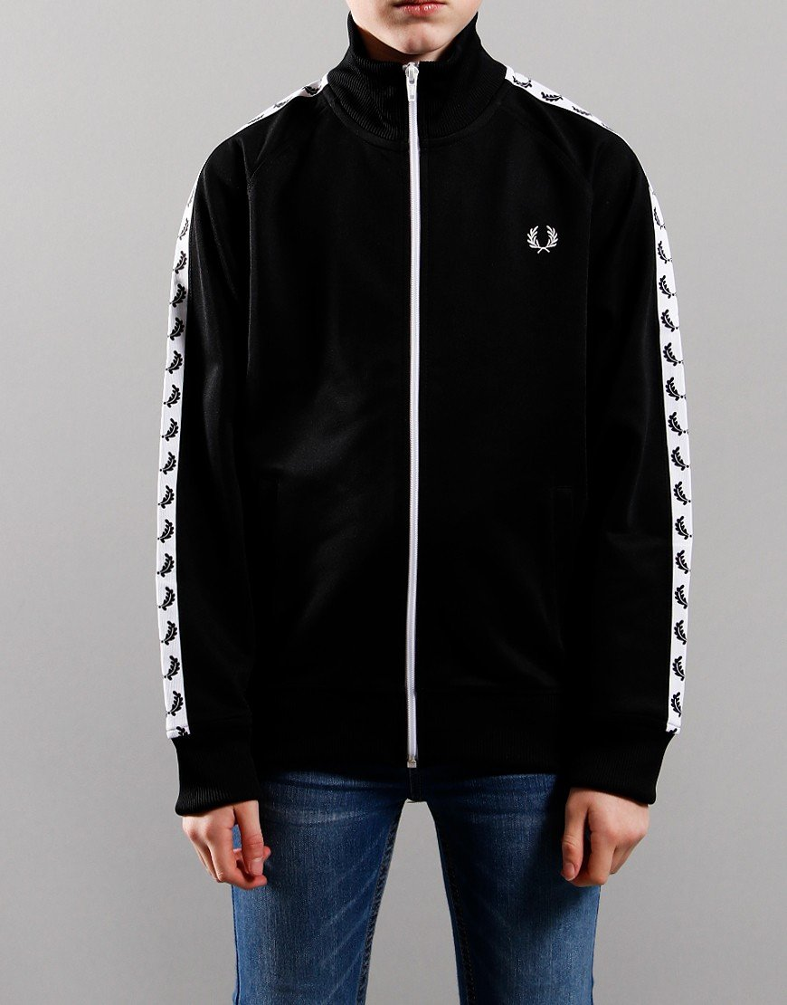 Fred Perry Kids Taped Track Jacket Black