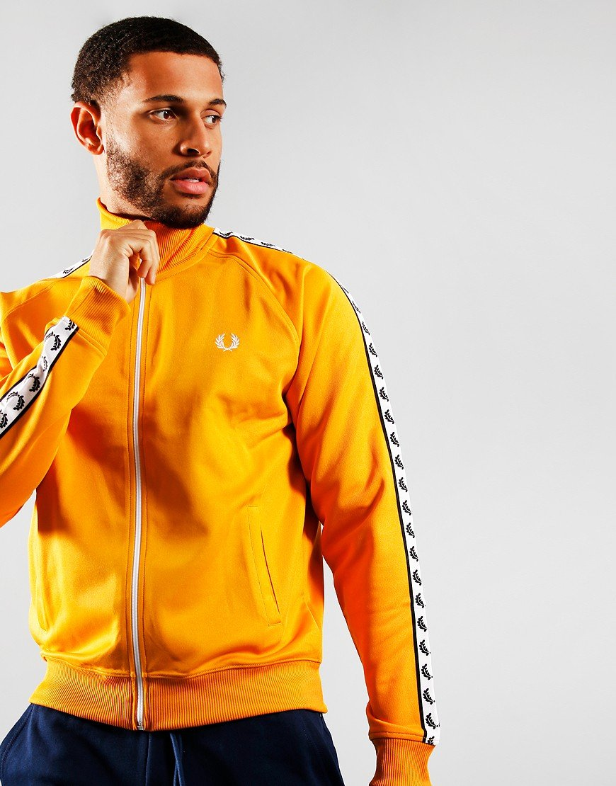 Fred Perry Laurel Wreath Tape Track Jacket Amber