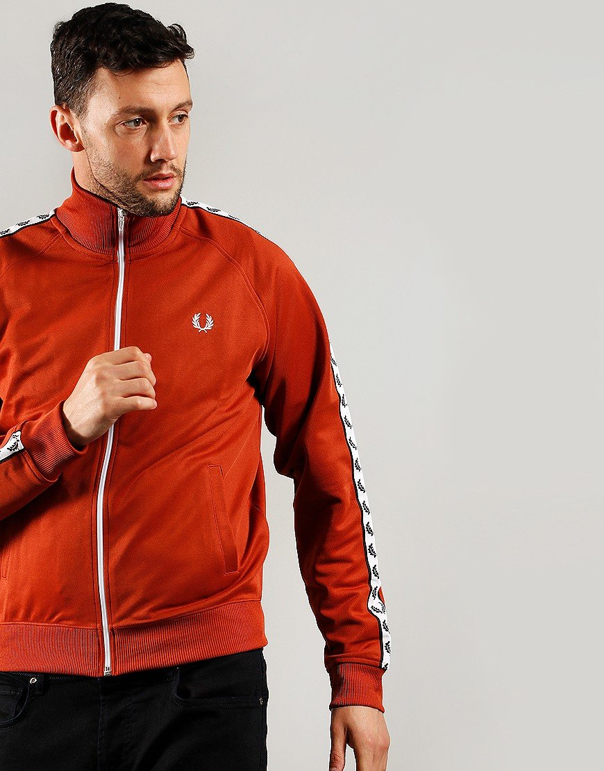 Fred Perry Laurel Wreath Tape Track Top Paprika