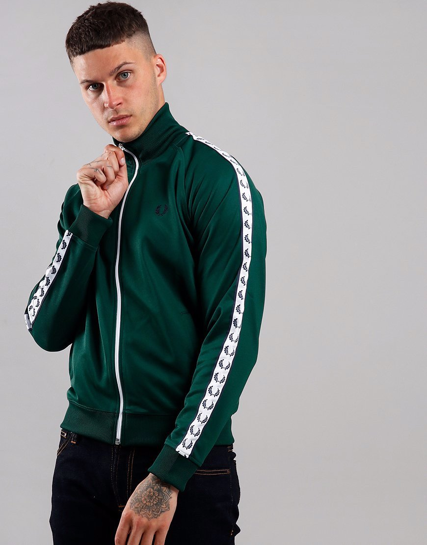 Fred Perry Taped Track Jacket Ivy