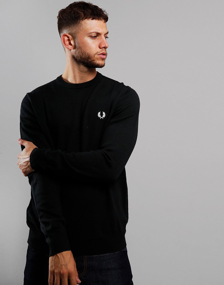 Fred Perry Merino Crew Neck Knit Black