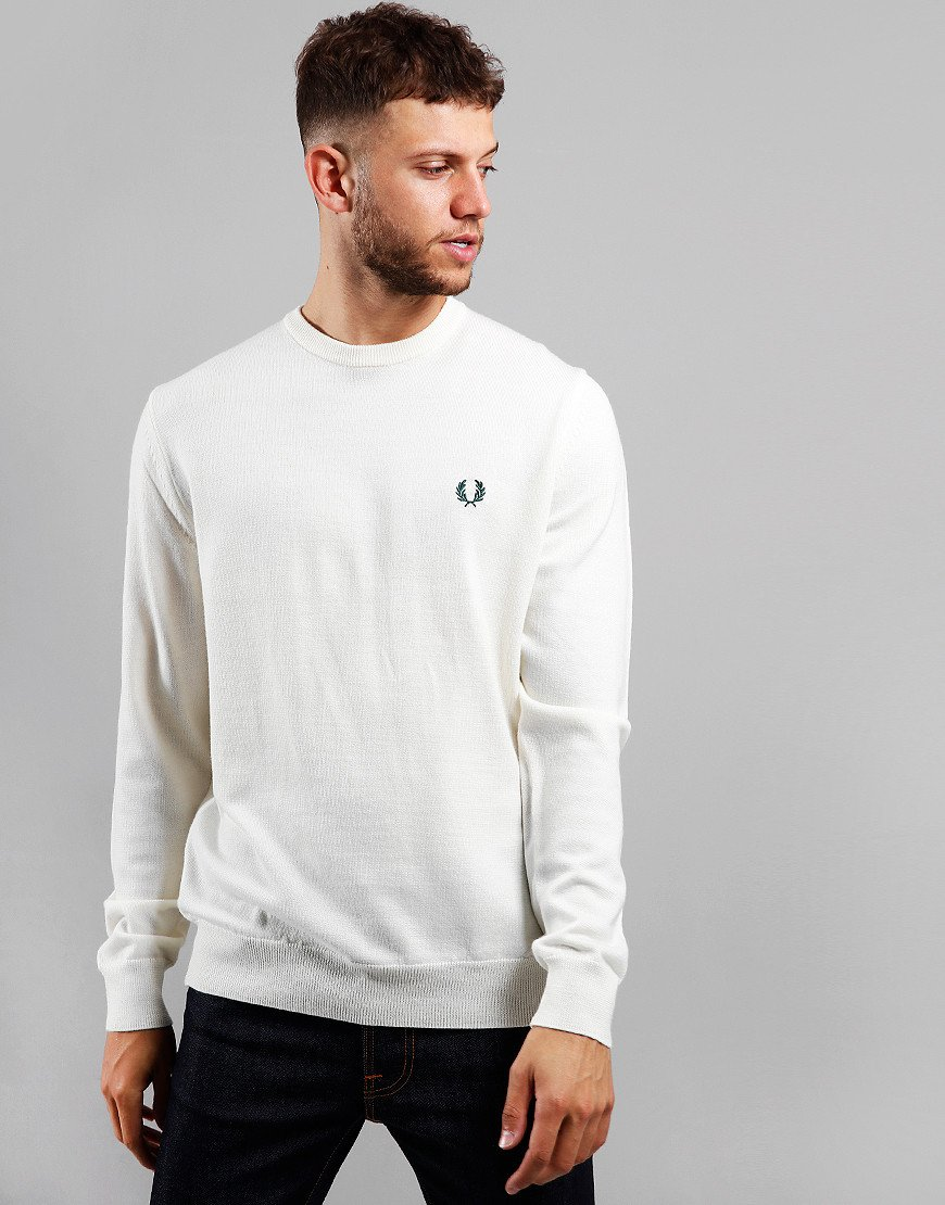 Fred Perry Merino Crew Neck Knit Light Ecru