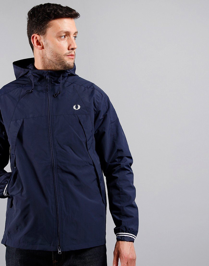 Fred Perry Panel Zip Jacket Carbon Blue
