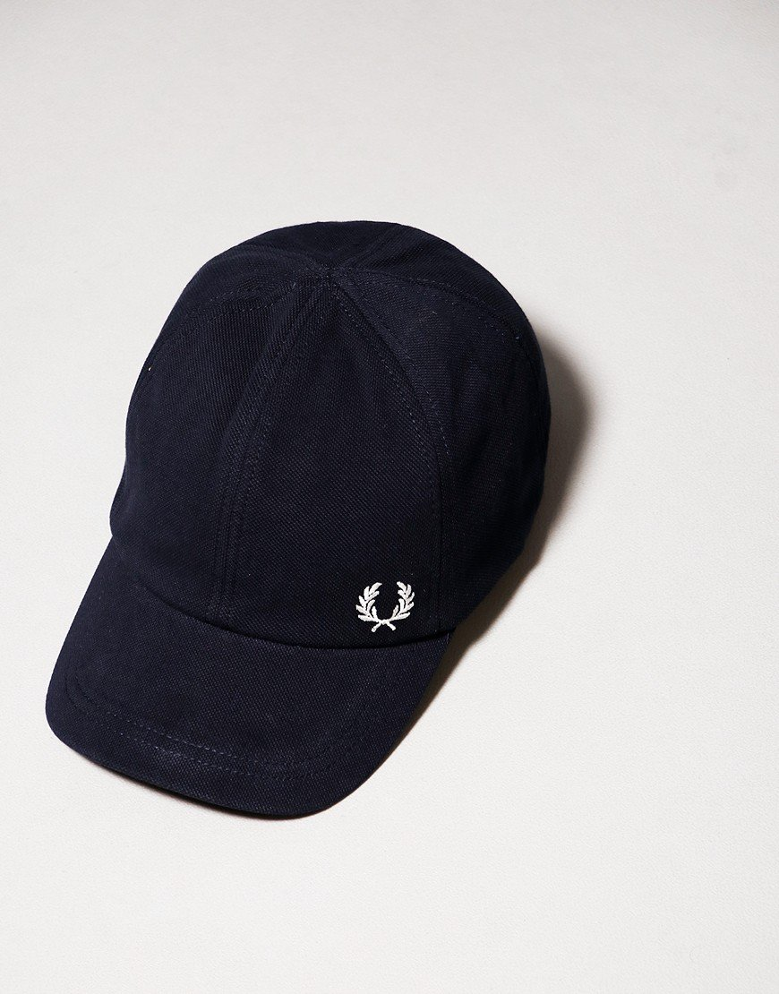 Fred Perry Pique Cap Navy