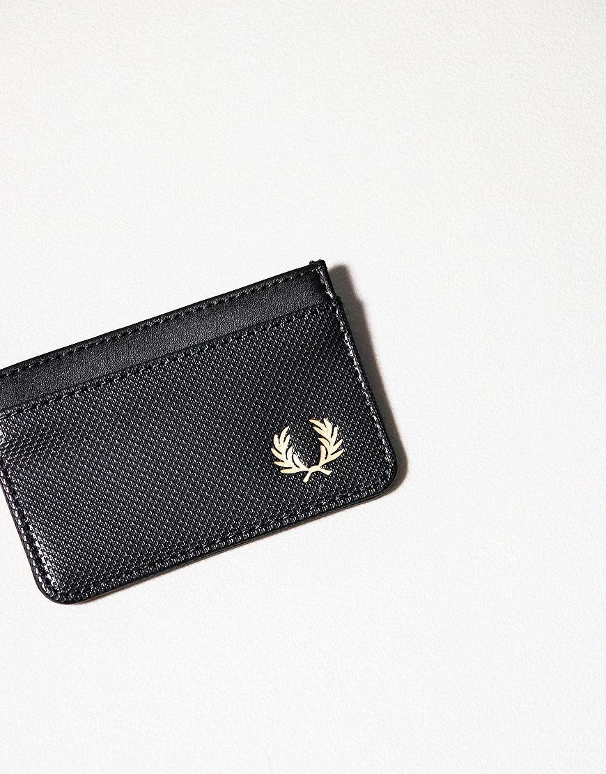 Fred Perry Pique Texture Card Holder Black