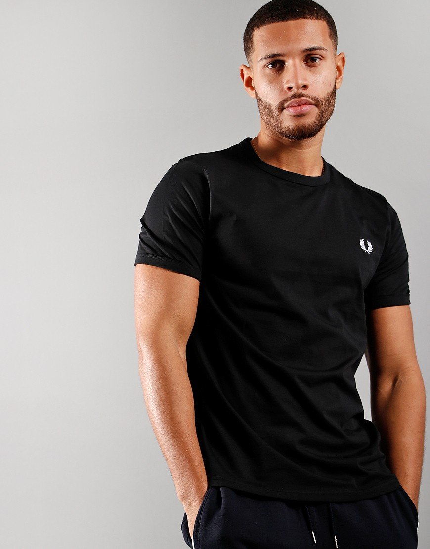 Fred Perry Tonal Ringer T-Shirt Black