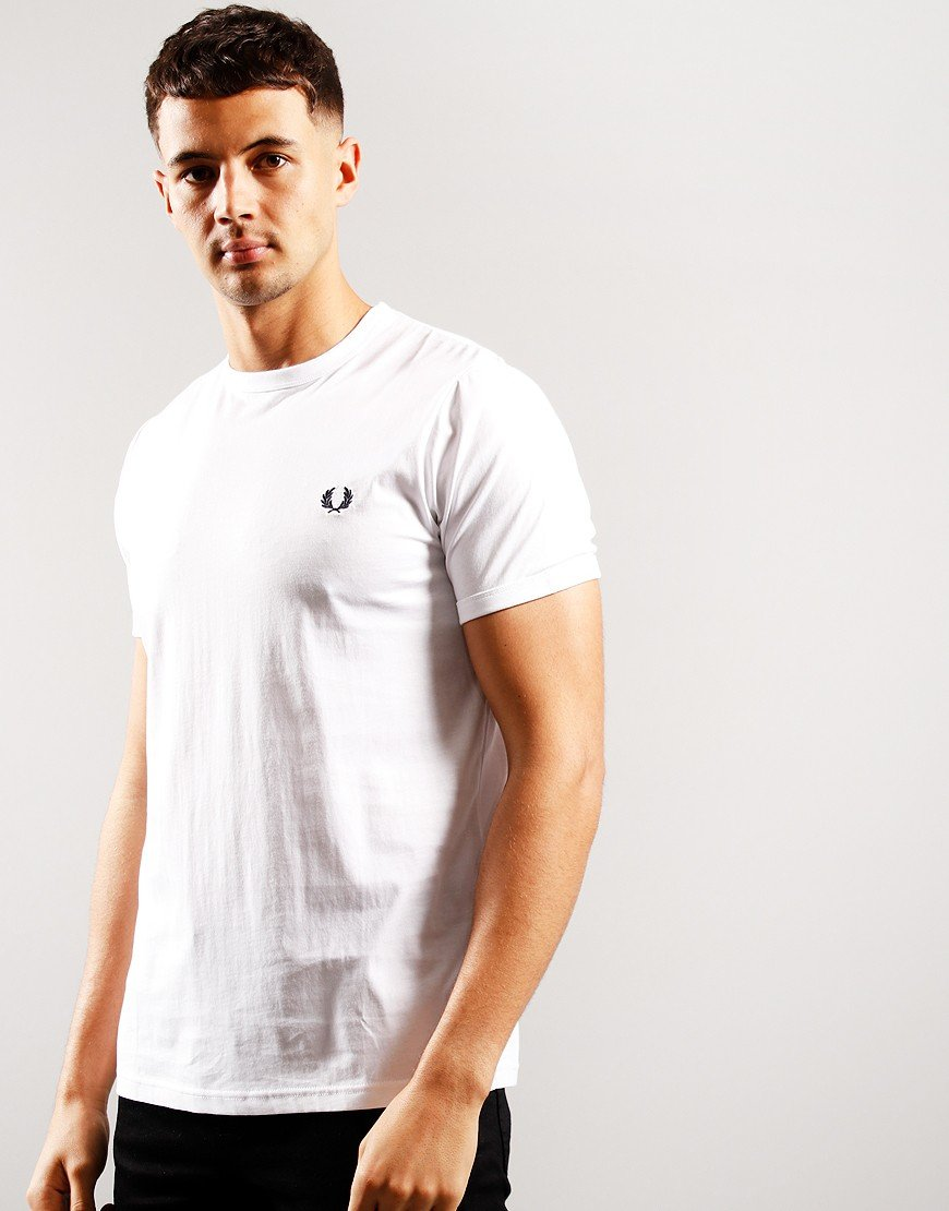 Fred Perry Tonal Ringer T-Shirt White