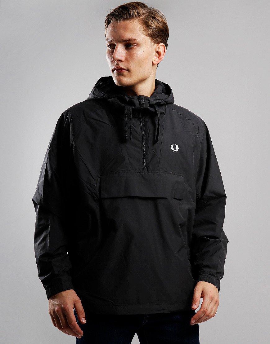 Fred Perry Ripstop Half Zip Overhead Jacket Black