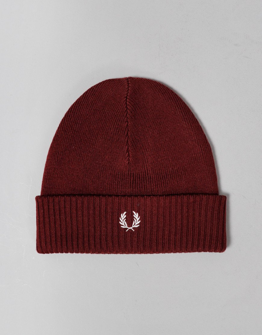 Fred Perry Roll Up Beanie Stadium Red