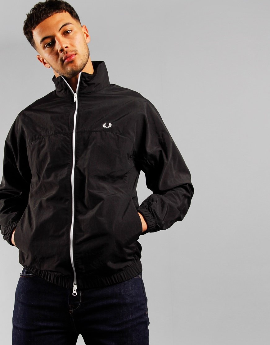 Fred Perry Zip Through Shell Jacket Black