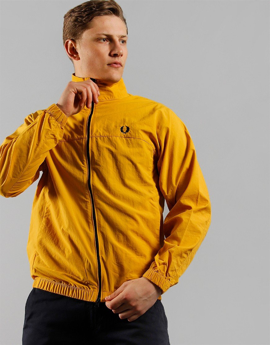 Fred Perry Zip Through Shell Jacket Gold