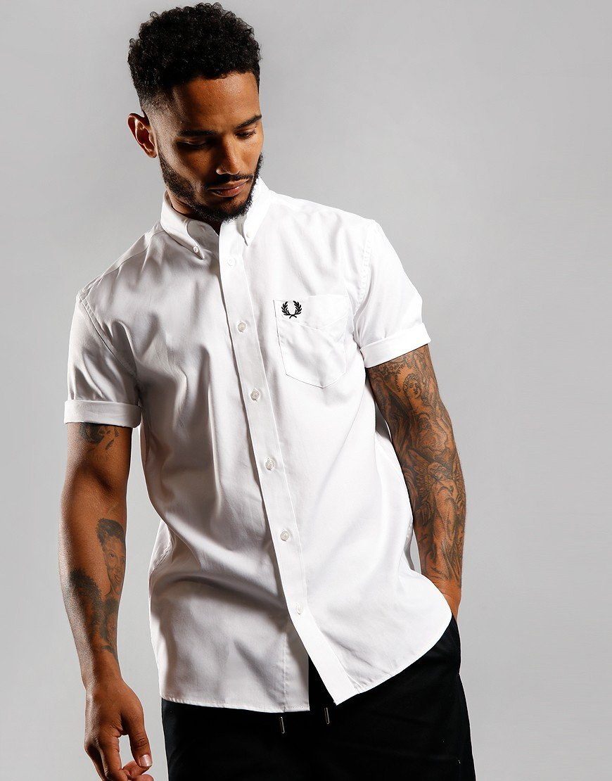 Fred Perry Oxford Shirt White
