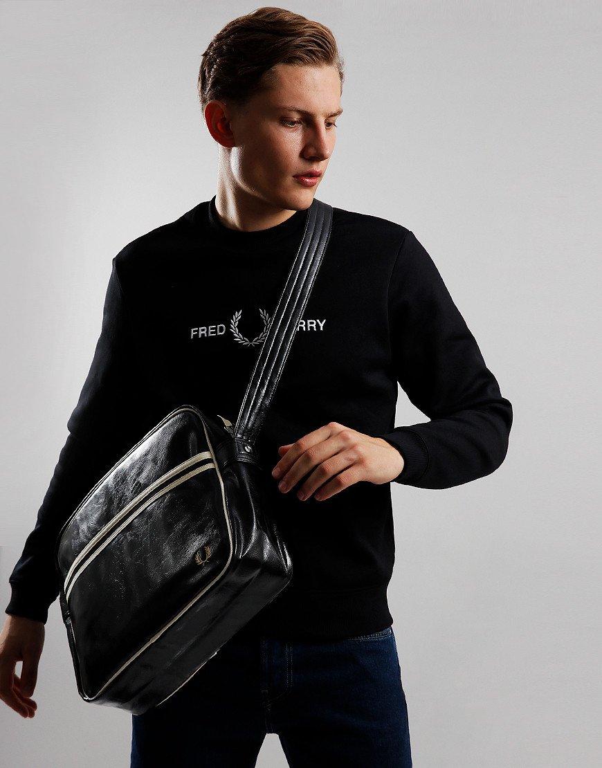 Fred Perry Classic Shoulder Bag Black/Ecru