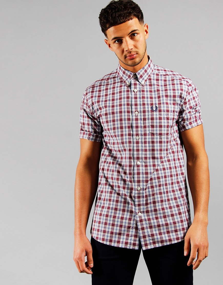 Fred Perry Small Check Shirt Port