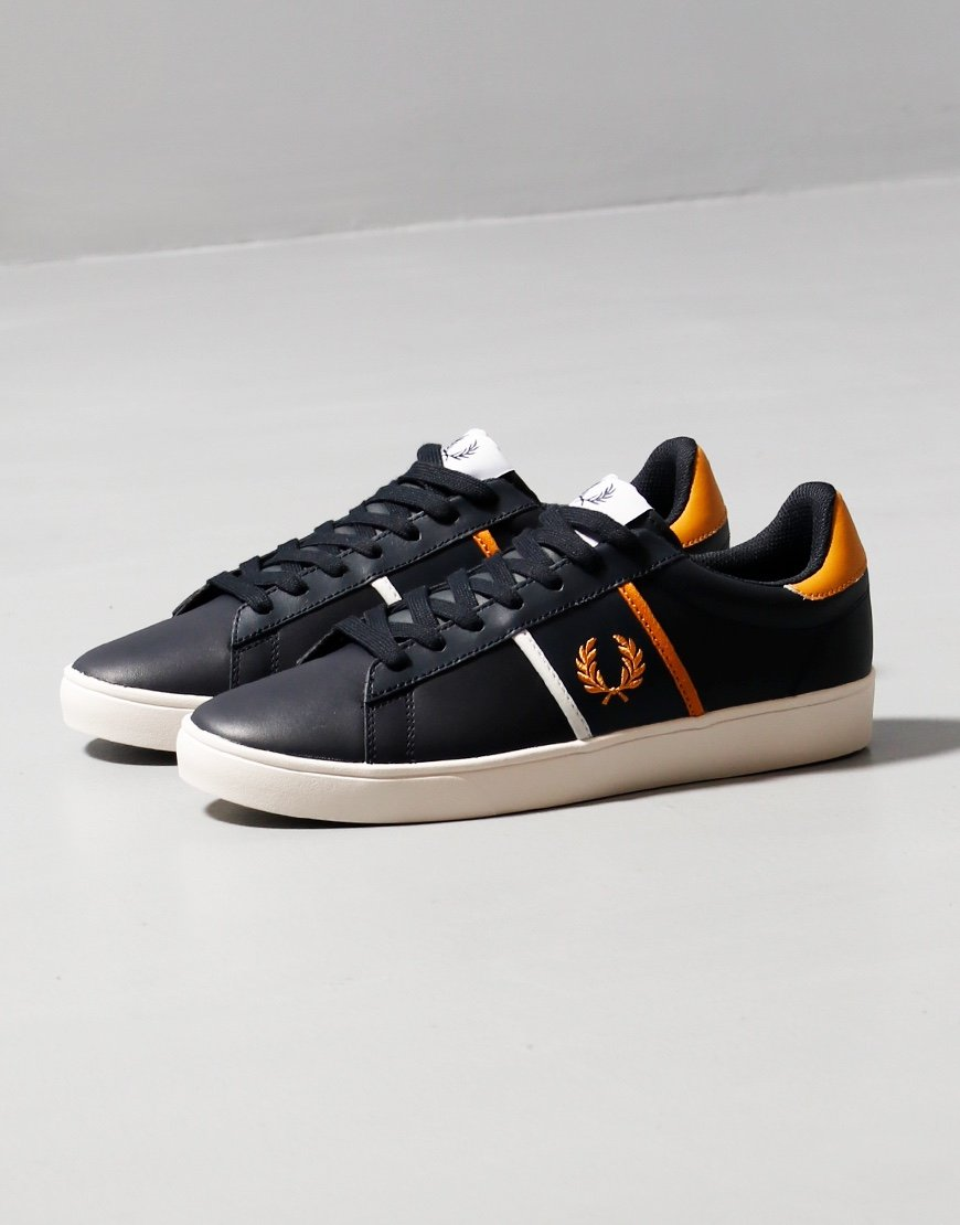 Fred Perry Spencer Leather Plimsoll Navy