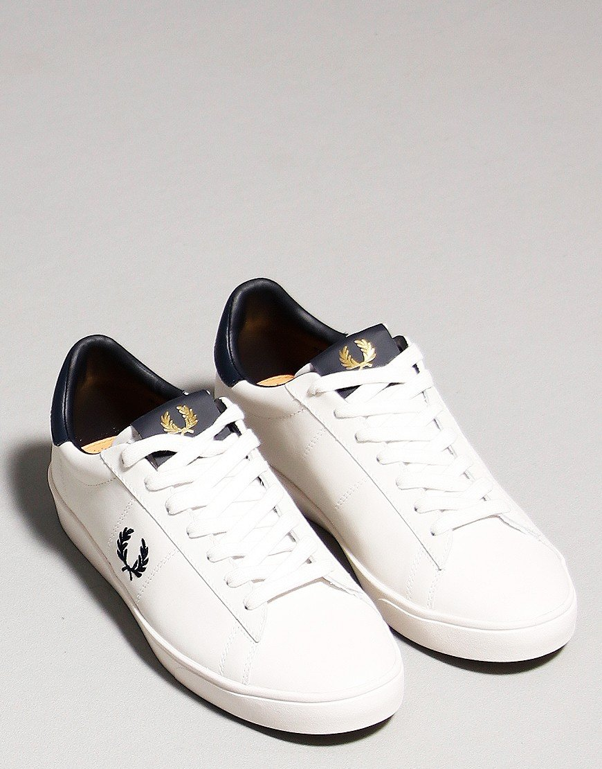 Fred Perry Spencer Leather Trainers Porcelain