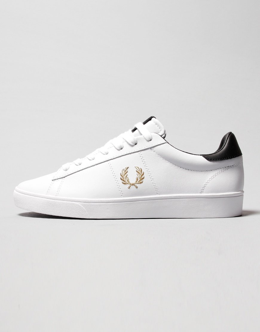 Fred Perry Spencer Leather Plimsoll White