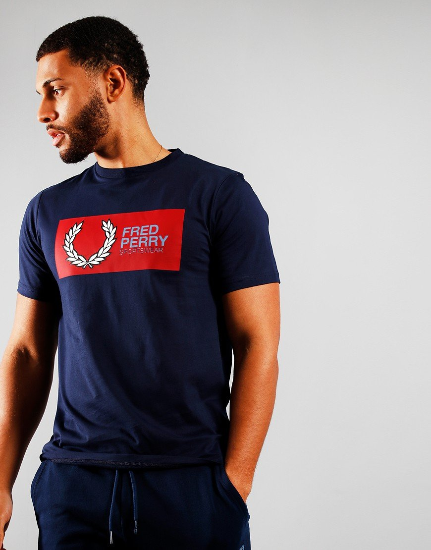 Fred Perry Sportswear T-Shirt Carbon Blue