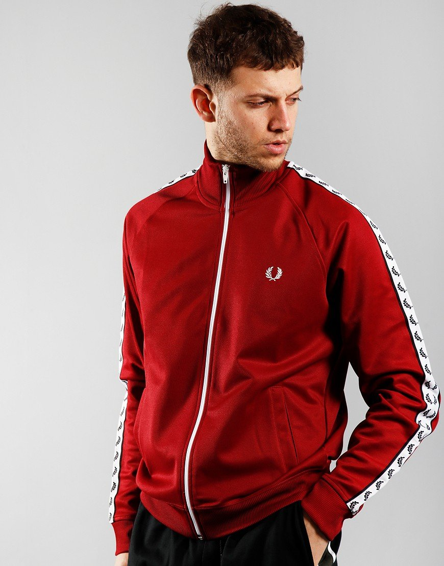 Fred Perry Taped Track Jacket Rosso