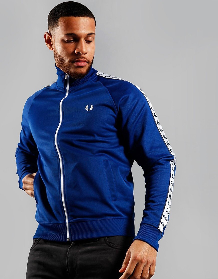 Fred Perry Taped Track Jacket Cobalt