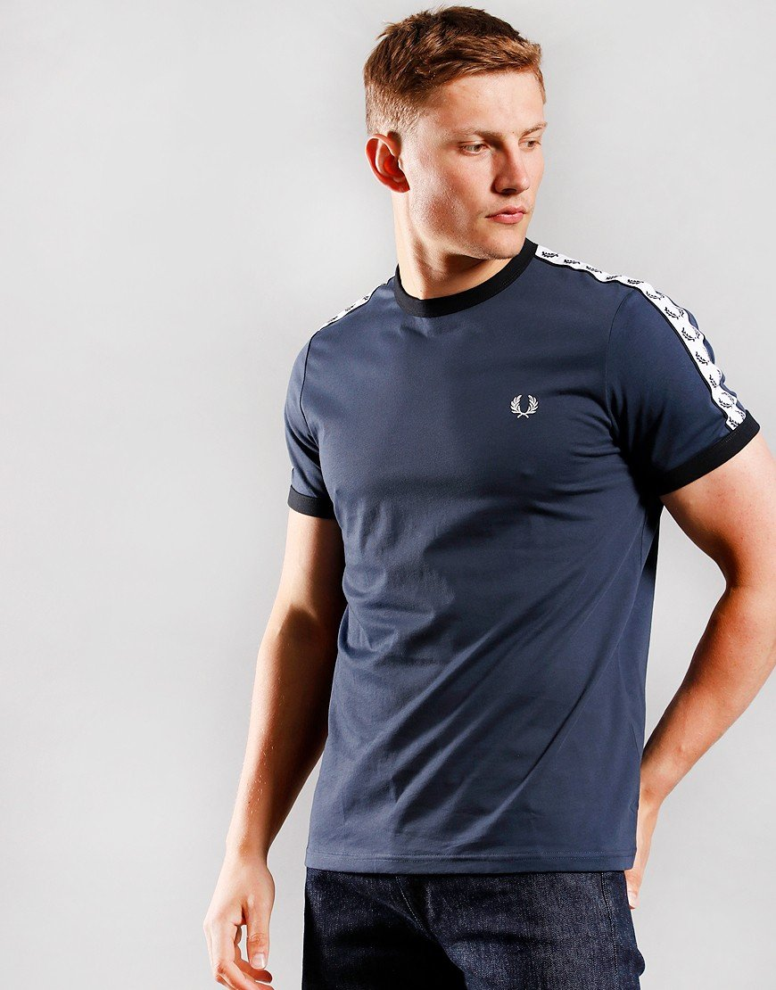 Fred Perry Taped Ringer T-Shirt Dark Airforce