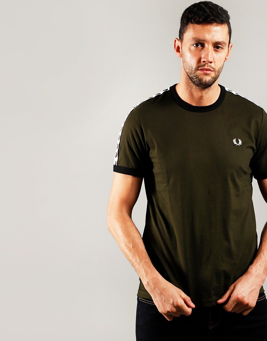 Fred Perry Taped Ringer T-Shirt Hunter Green