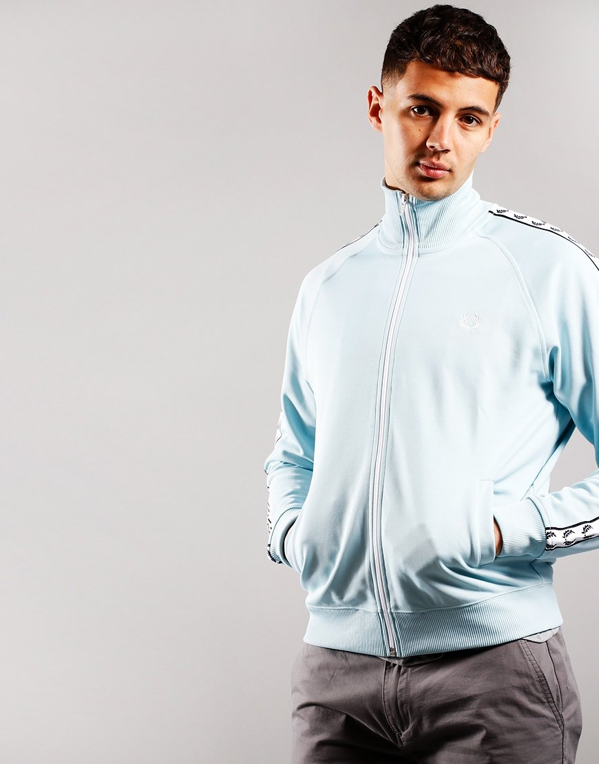 Fred Perry Taped Track Jacket Chalk Blue