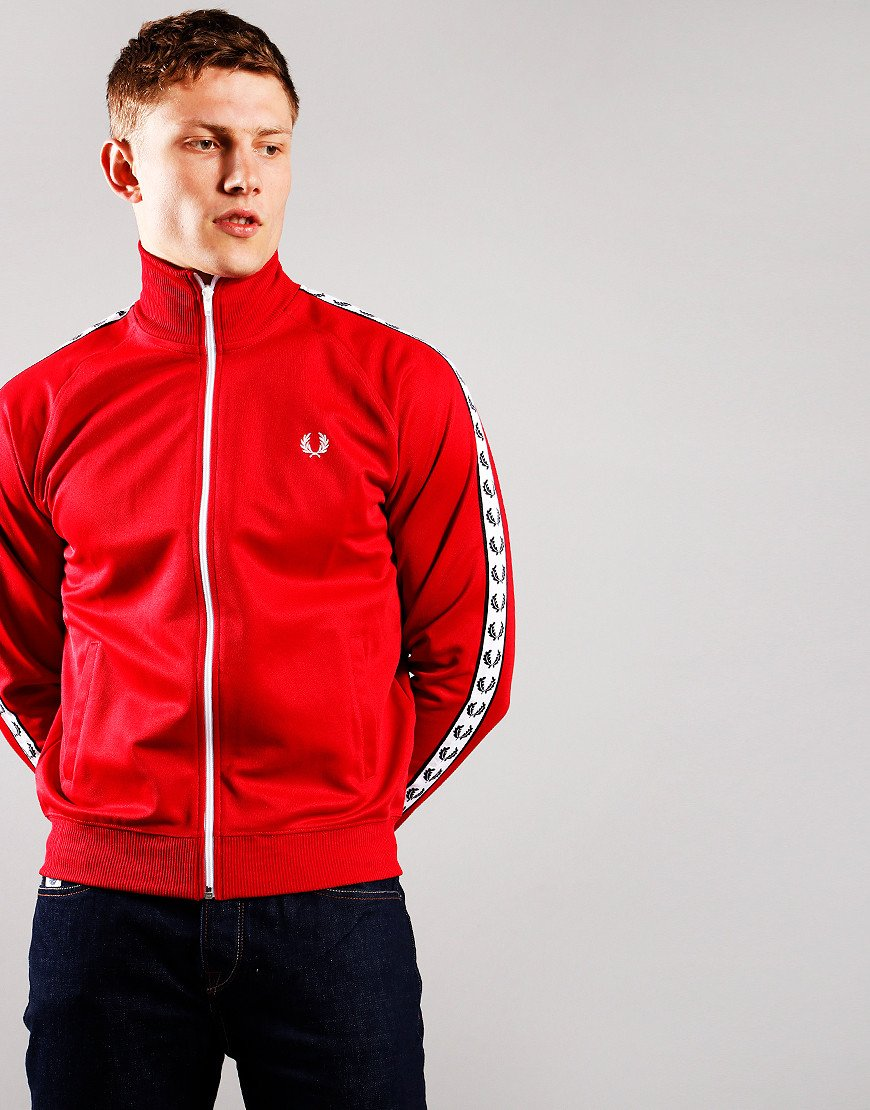 Fred Perry Taped Track Jacket Blood
