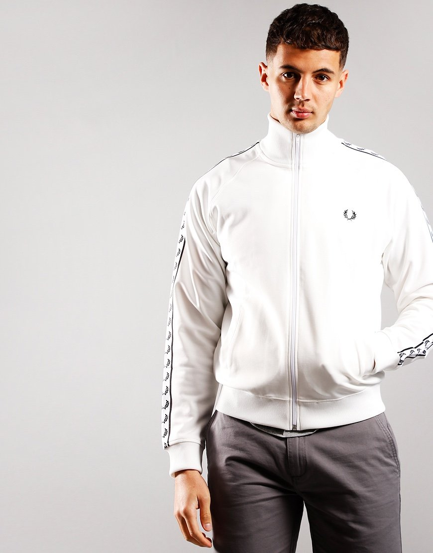 Fred Perry Taped Track Jacket Snow White