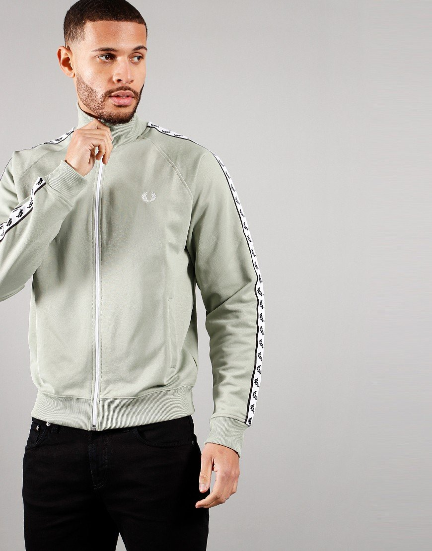 Fred Perry Taped Track Jacket Seagrass