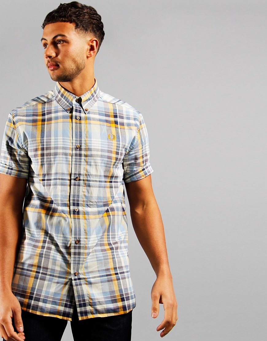 Fred Perry Tartan Shirt Gold
