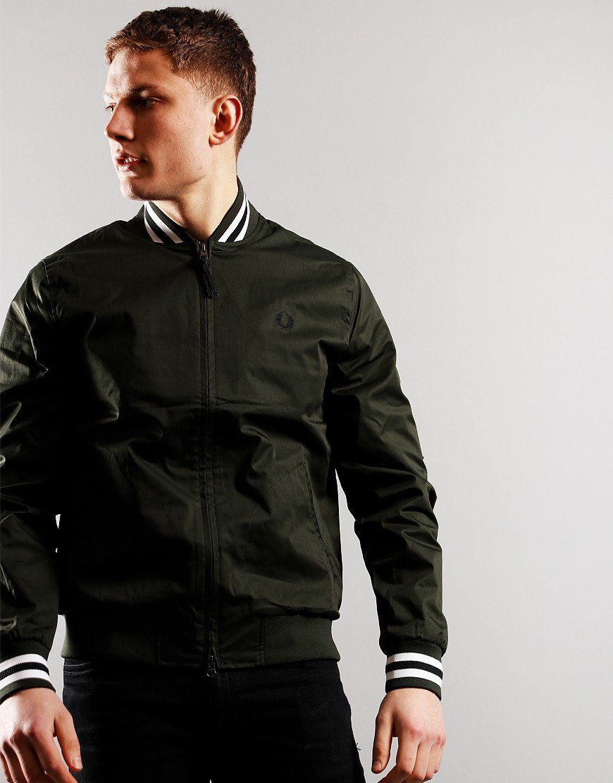 Fred Perry Tennis Bomber Jacket Hunting Green