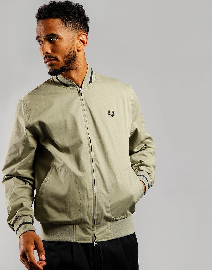 Fred Perry Tennis Bomber Jacket Light Sage