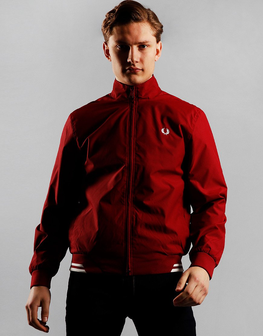 Fred Perry Brentham Twin Tipped Sports Jacket Rosso