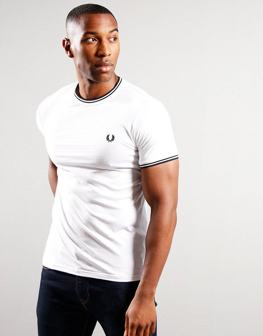 Fred Perry Tipped T-Shirt White