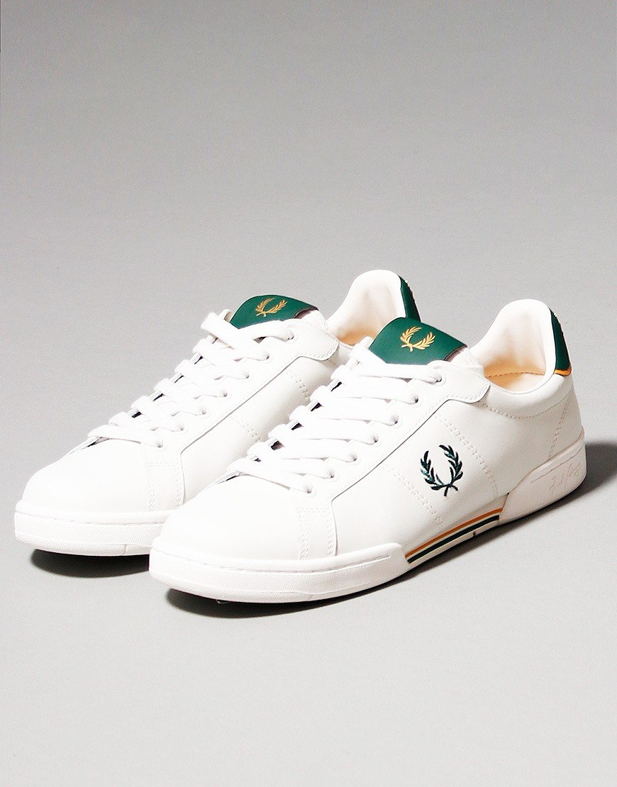 Fred Perry B722 Leather Plimsoll Porcelain