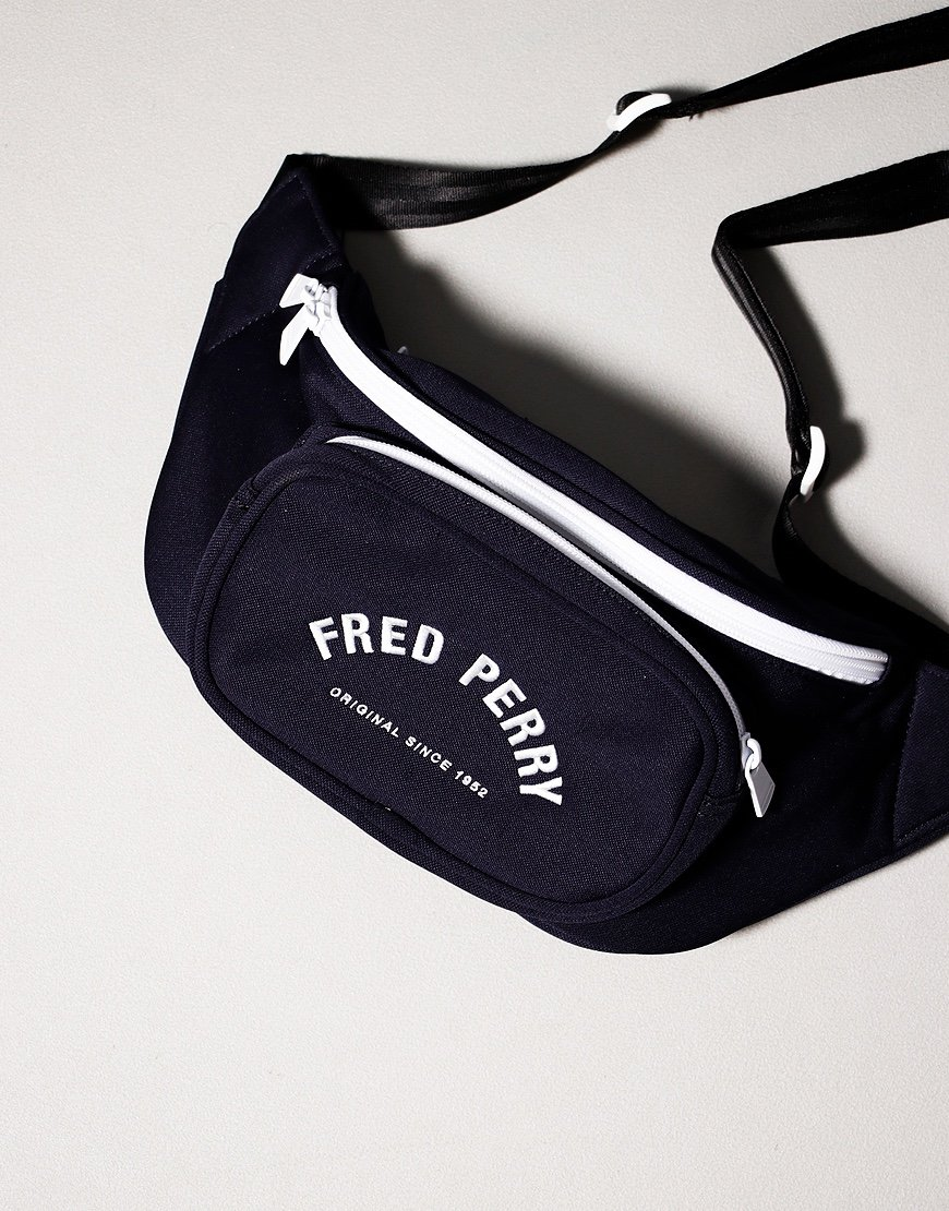 Fred Perry Tricot Cross Body Bag Carbon Blue