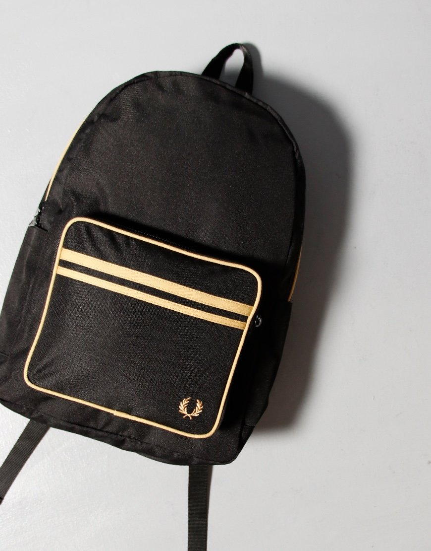 Fred Perry Twin Tipped Backpack Black / Champagne