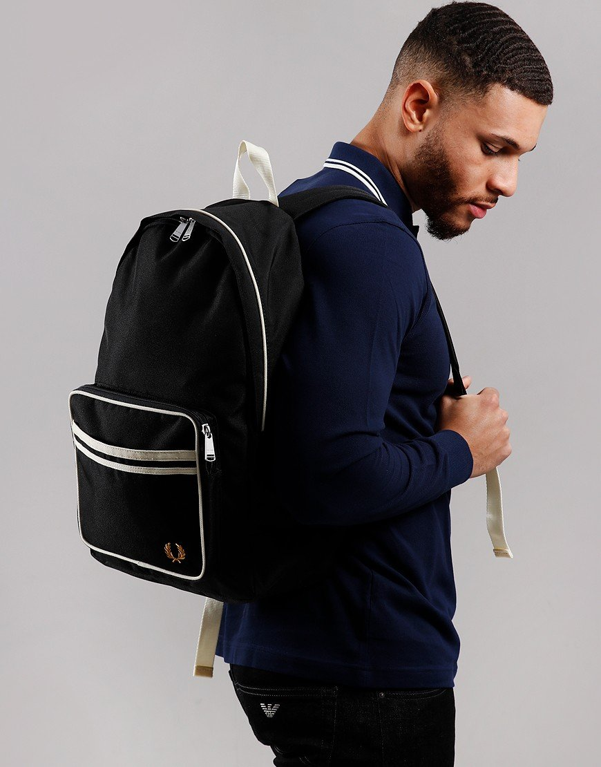 Fred Perry Twin Tipped Back Pack Black