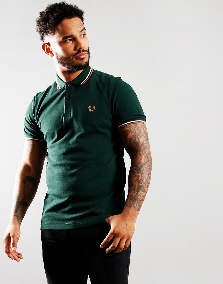 Fred Perry Twin Tipped Polo Shirt Everest/Snow White
