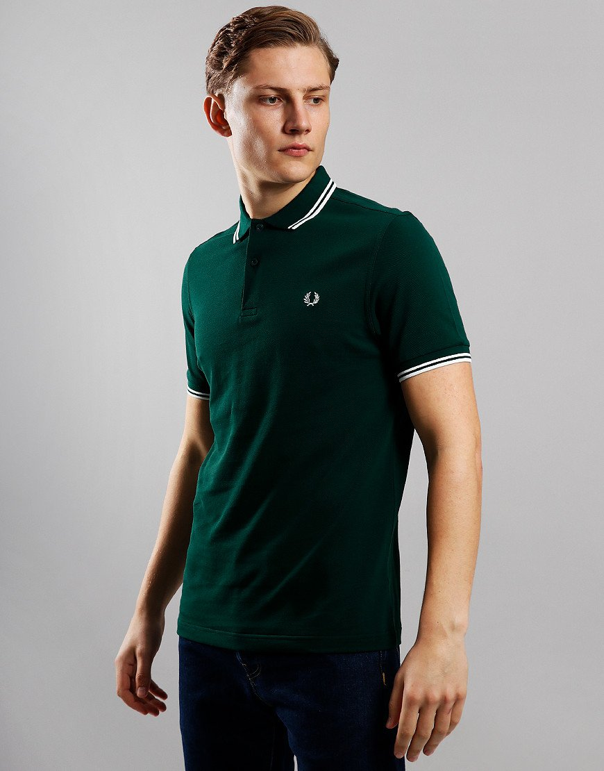 Fred Perry Twin Tipped Polo Shirt  Ivy