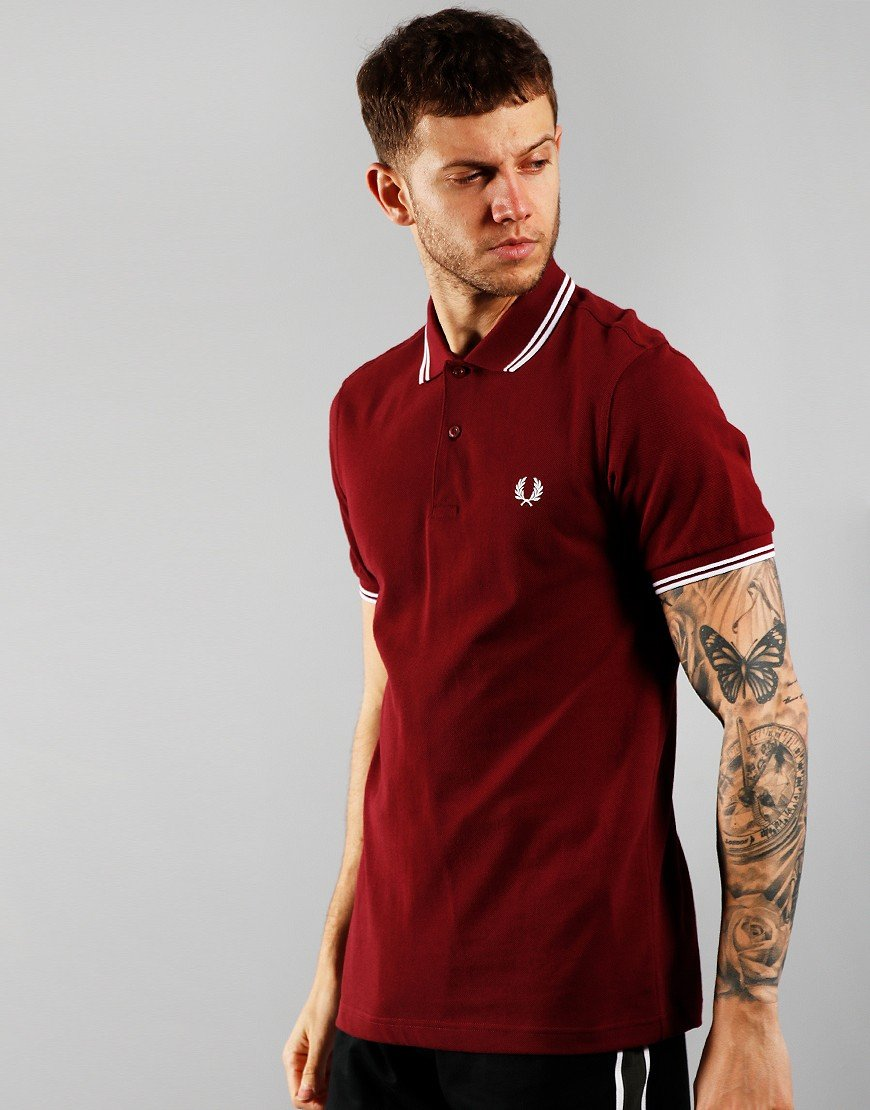 Fred Perry Twin Tipped Polo Shirt Port