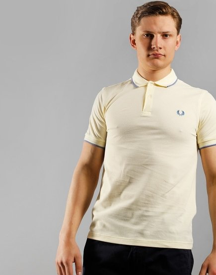 Fred Perry Twin Tipped Polo Shirt Butter Icing