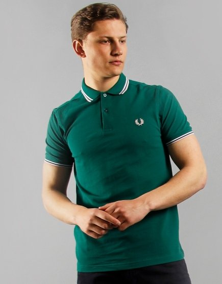 Fred Perry Twin Tipped Polo Shirt RAF Green