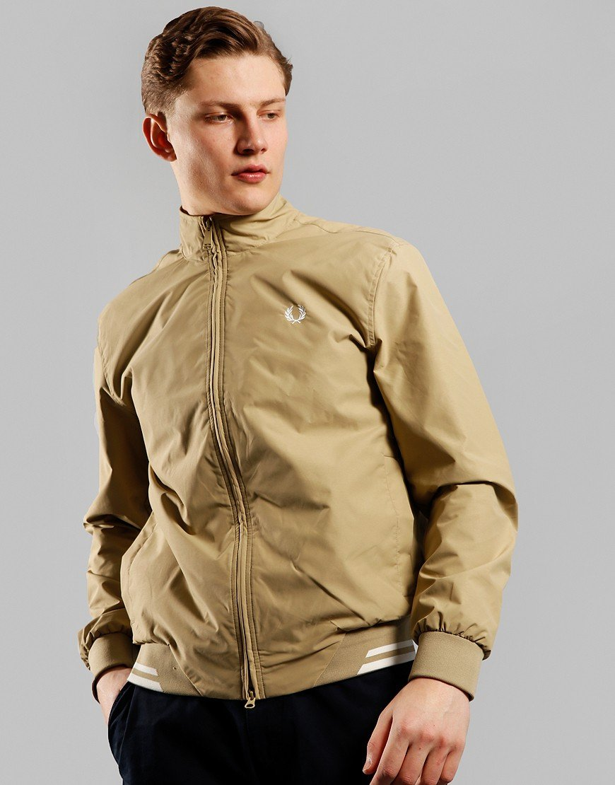 Fred Perry Twin Tipped Brentham Sports Jacket Dark Stone