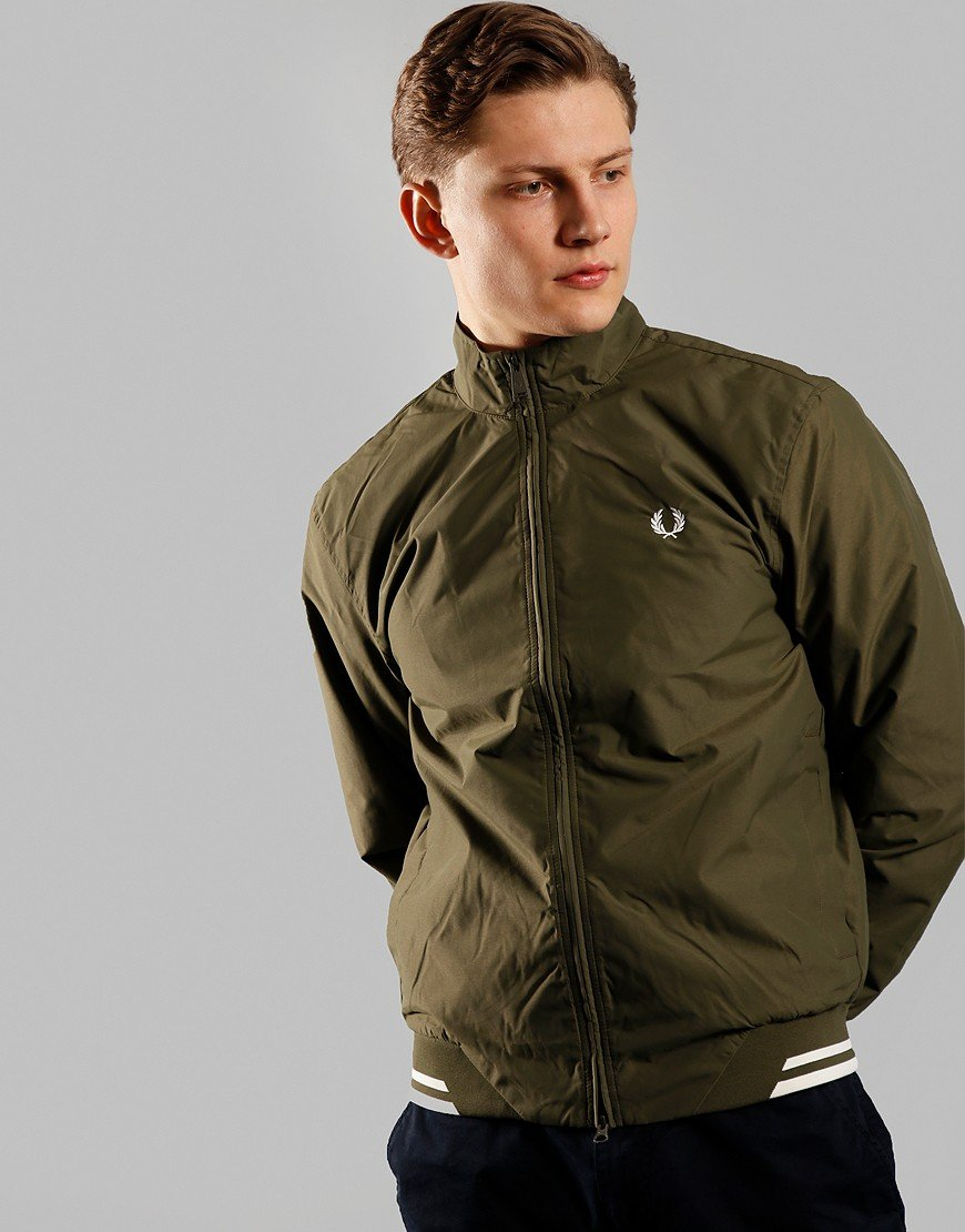 Fred Perry Twin Tipped Brentham Sports Jacket Military Green