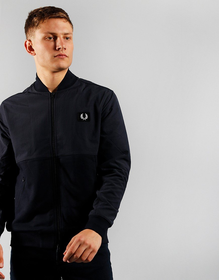 Fred Perry Woven Panel Bomber Navy