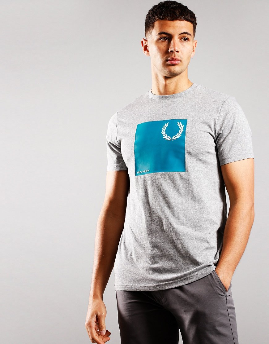 Fred Perry Wreath Graphic T-Shirt Steel Marl