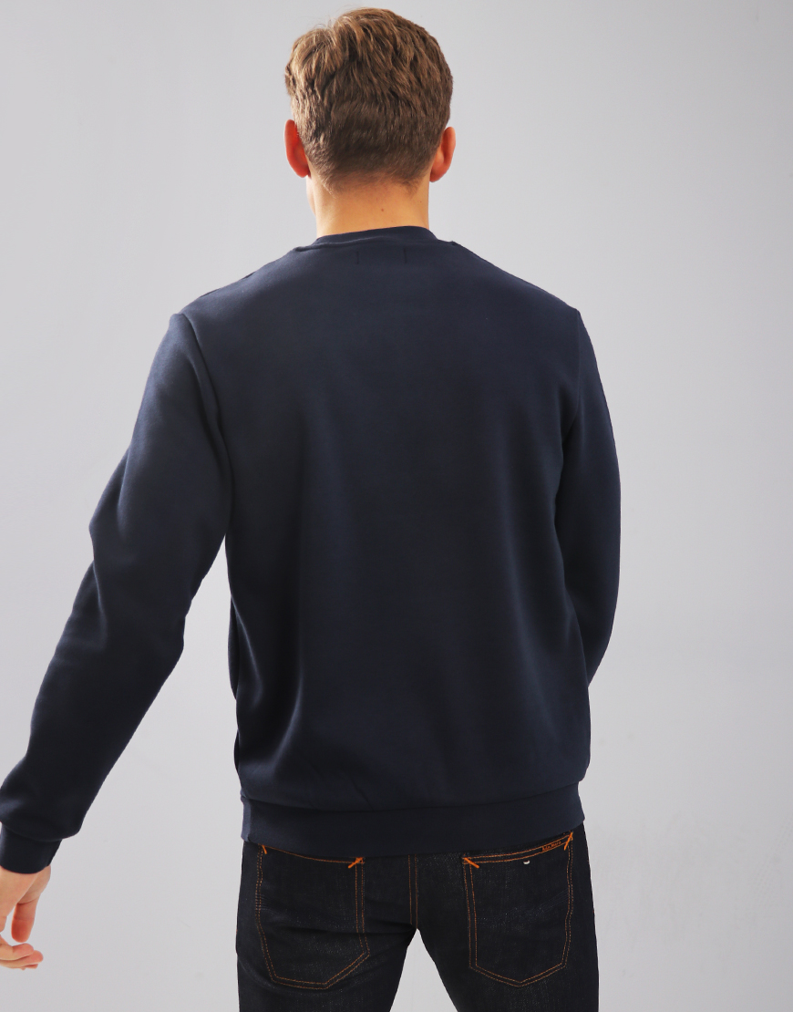Fred Perry Embroidered Sweat Washed Navy