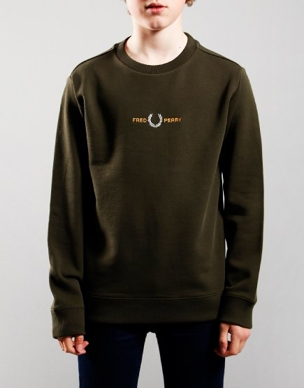 Fred Perry Kids Embroidered Sweat Hunting Green